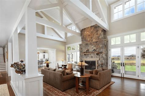 Fireplace Decorating Ideas by 20 Farmhouse Style Living Rooms
