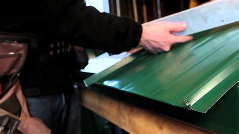 standing seam panel preparing the bottom cliphem youtube