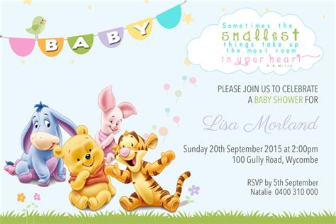 Snapfish Baby Shower Invites by Winnie The Pooh Baby Shower Invitations Oxyline