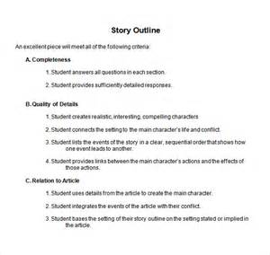 outline template word story outline template 9 free documents in pdf