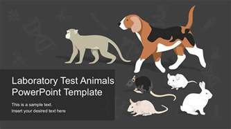 animals powerpoint template laboratory test animals powerpoint template slidemodel