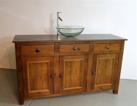 Rustic Pine Vanity by Made Rustic Style Vanity From Reclaimed Pine By