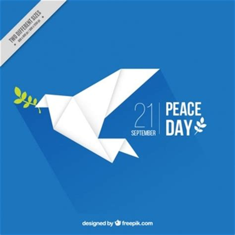 background with a origami peace dove