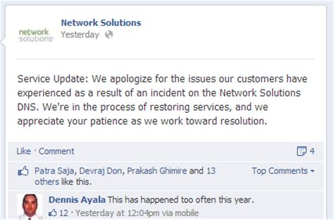Network Solutions Down Again Dns And Email Outages Network Outage Email Template