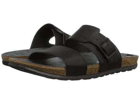 merrell downtown slide buckle in black for lyst