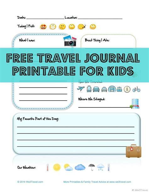 travel journal template free kid travel journal printable travel journal for