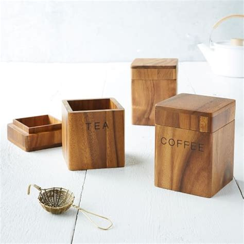 wooden kitchen canisters acacia wood canisters elm