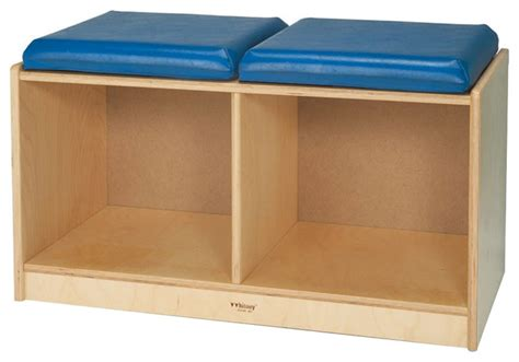 reading bench with storage whitney brothers preschool kids 2 section reading bench