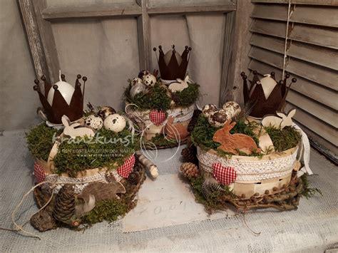 Naturdeko Hochzeit by Naturdeko Osterk 246 Rbchen Mit Hasenkrone Tischdeko