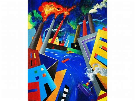 acrylic paint zippo alan thompson works on sale at auction biography