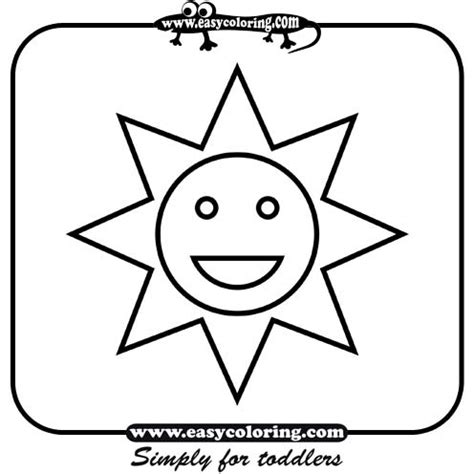 Sun Coloring Pages For Toddlers by Sun Simple Shapes Easy Coloring Pages For Toddlers