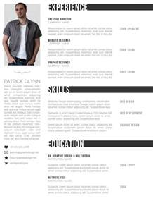 Creative Resume Free Templates by Free Creative Resume Templates Designinstance