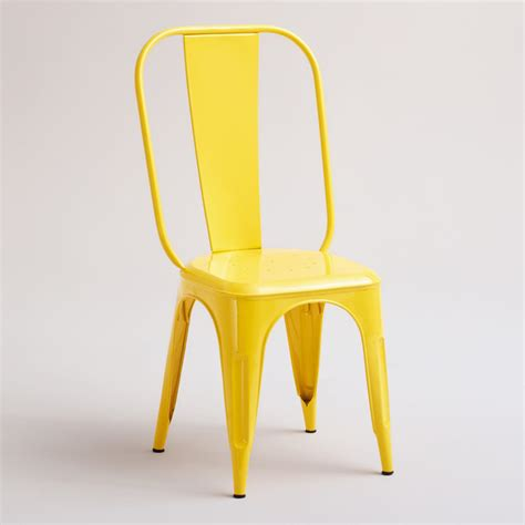 Cargo Dining Chairs Yellow Cargo Stacking Chair Industrial Dining Chairs By Cost Plus World Market
