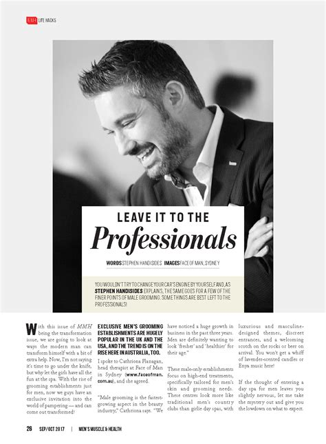 To Leave To The Professionals by Leave It To The Professionals S Health