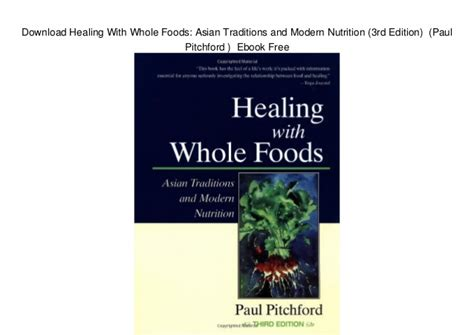 Pdf Healing Whole Foods Traditions Nutrition by Healing With Whole Foods Asian Traditions And