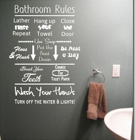 word for bathroom in england bathroom rules vinyl wall art quote sticker wash words