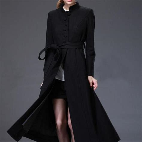 womens swing coat wool new design winter coat womenblack wool coat oversize women