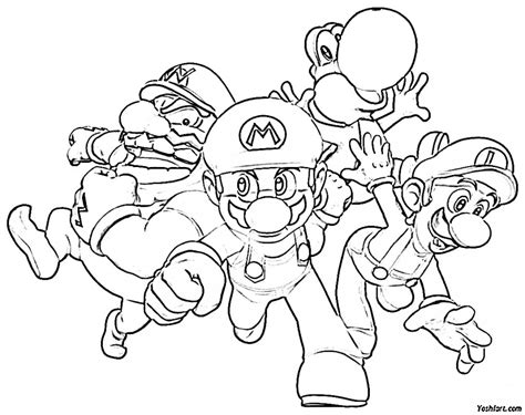 mario characters coloring pages online mario coloring games super mario characters coloring pages