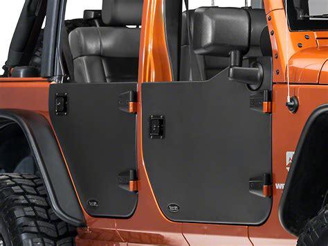 rugged ridge wrangler front half door pair 11509 01 07