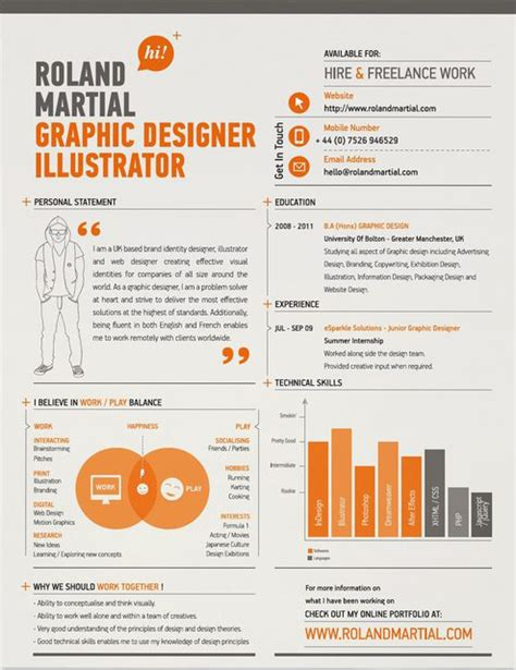Sle Creative Resume Designs 10 Excellent Exles Of Creative Resumes The Chic Type