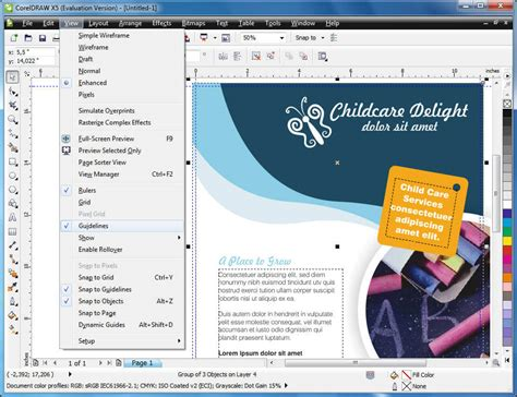 layout photo editing coreldraw graphics suite download