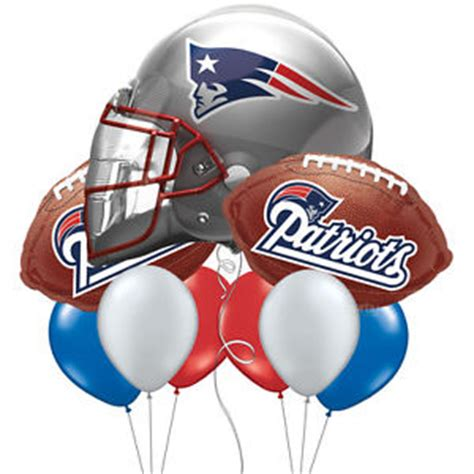 new england patriots nfl team bouquet of balloons red
