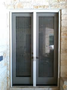 Vinyl Doors Exterior Traditional Front Door With White Vinyl Screen