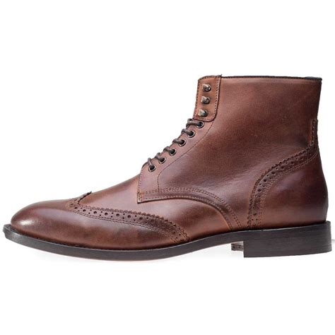 cognac boots mens h by hudson greenham mens ankle boots in cognac