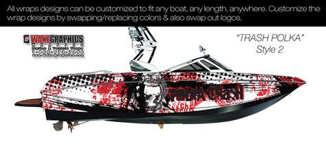 the trash polka style 2 boat wrap kit - Trash Polka Boat
