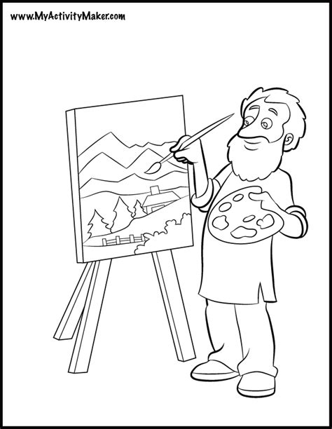 picture coloring page generator coloring pages people my activity maker coloring home