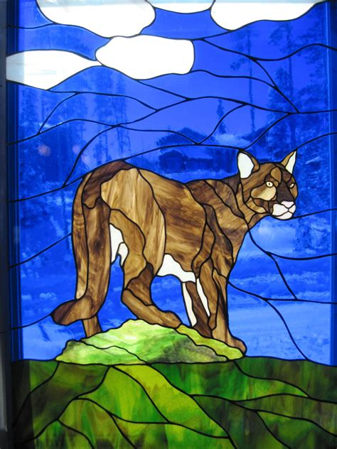 Elephant Precut Coloured delphi stained glass animals stained glass