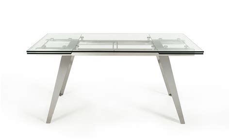 modrest barium modern extendable glass dining table