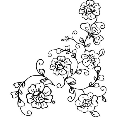printable drawing stencils free printable flower stencil templates clipart best