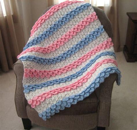 Crocodile Stitch Crochet Blanket by Crocodile Stitch Rock Baby Blanket Free Crochet Pattern