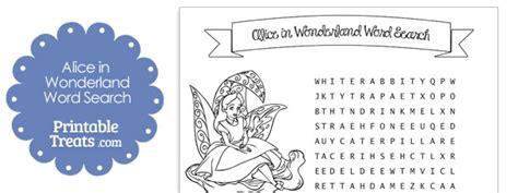 alice in wonderland printable word search printable alice in wonderland word search printable
