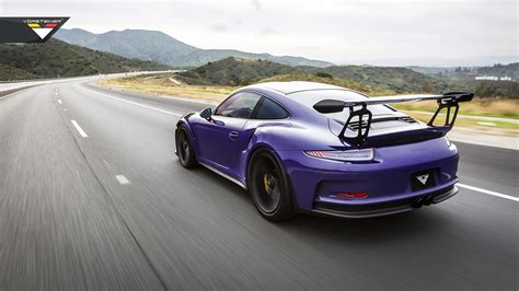 porsche purple purple beast vorsteiner goes to town on porsche 911 gt3