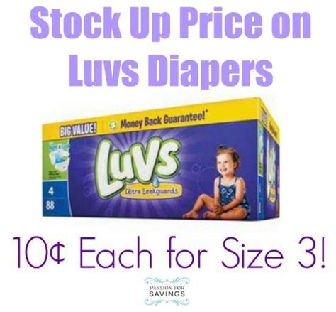 printable luvs diaper coupons luvs diapers deal at target passion for savings
