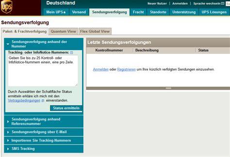 Ups Aufkleber Bestellen by Ups Tracking Sendungsverfolgung Paketverfolgung Paket Net
