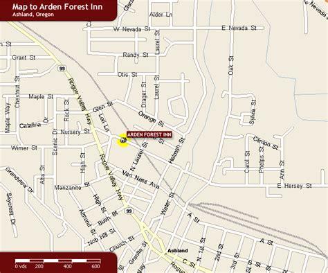 where is ashland oregon on a map map of ashland oregon hotels