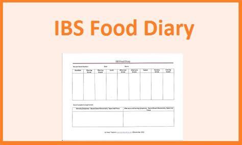 printable food diary ibs ibs food diary download template printable