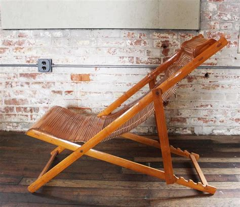 How To Put Up A Deck Chair by Vintage Bamboo Wood Japanese Deck Chairs Loungers Outdoor