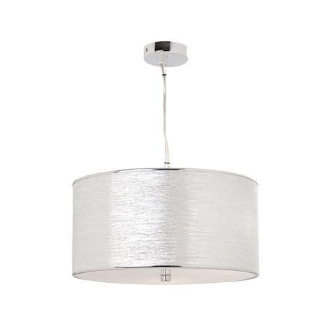 Endon Rebolo Fabric Acrylic Pendant Light Endon From Fabric Pendant Lights