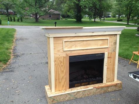 build your own fireplace insert building a custom electric fireplace surround stuff i