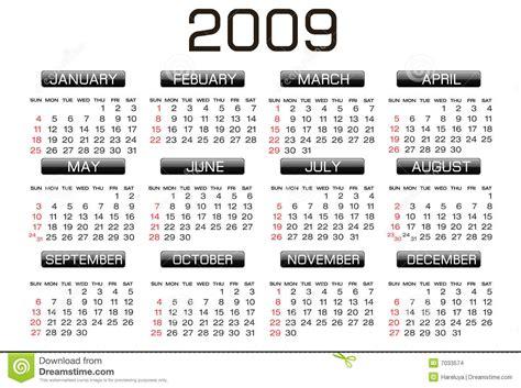 Calendario Z Calendar 2009 Stock Images Image 7033574