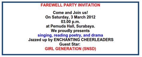 Membuat Undangan Farewell Party | english learning websites contoh undangan pesta farewell