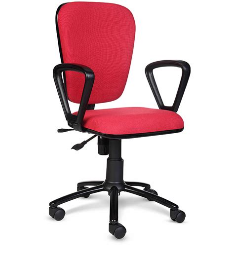 recliner chair godrej star midback chair in red colour by godrej interio by