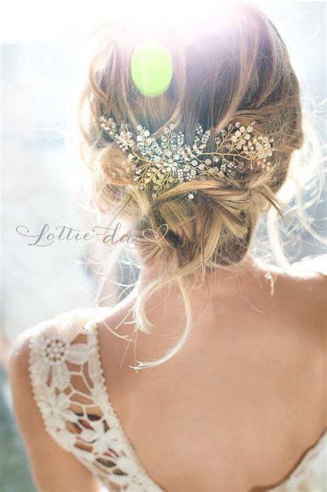 a gold sprayed flower crown wedding hairstyles photos gold antique gold silver boho headpiece opal flower