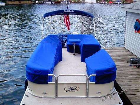 pontoon boat mooring covers with snaps boat covers dougs upholstery