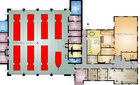 volunteer fire station floor plans http www mitchell architects com images large stafford 1