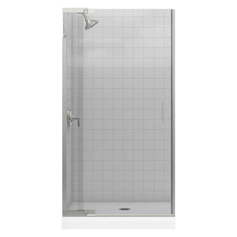 Pivot Glass Shower Doors Vigo Pirouette 66 In X 72 In Adjustable Semi Framed